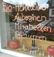 Bio-Angebot im Laden in Hattingen / Witten / Sprockhövel